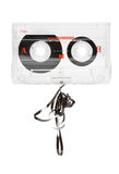 Broken audio tape Stock Image