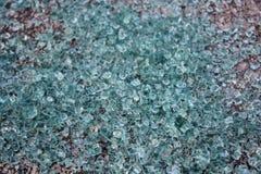 Broken Auto Glass. A pile of broken auto glass Royalty Free Stock Photos