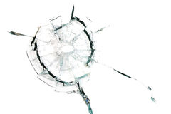 Broken away from a shot glass. On a white background Royalty Free Stock Images