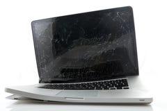 Broken bärbar dator Arkivbild