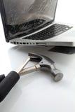 Broken bärbar dator Royaltyfri Fotografi
