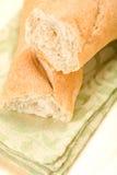 Broken Baguette Stock Photo
