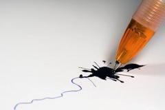 Broken ballpoint pen Royalty Free Stock Photos