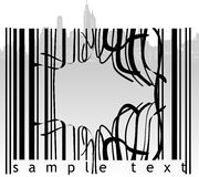 Broken Barcode City. Vector Illustration Royalty Free Stock Images