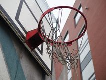 Broken basketball basket royalty free stock images