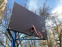 Broken basketball board Royalty Free Stock Images