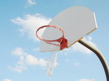 Broken basketball hoop Royalty Free Stock Photos