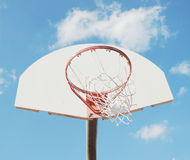 Broken basketball hoop Royalty Free Stock Photo