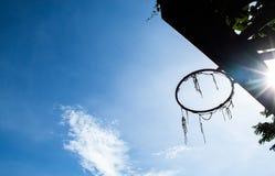 Broken basketball hoop stock photos
