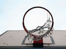 Broken basketball net Stock Image
