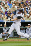 Broken Bat at Swing by Jason Giambi Stock Image