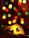 Broken bauble Christmas Tree and magic bokeh. Royalty Free Stock Images