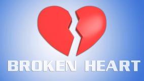 broken begreppshjärta stock illustrationer