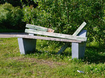 Broken Bench Royalty Free Stock Images