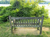Broken Bench Royalty Free Stock Photo