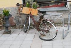 Broken bicycle royalty free stock photo