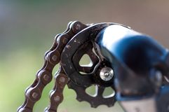 Broken bicycle chain . Broken bicycle chain close up royalty free stock photos