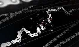 Broken bicycle chain stock images