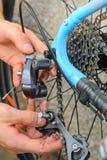 Broken Bicycle Rear Derailleur Royalty Free Stock Images