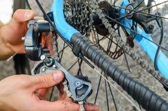 Broken Bicycle Rear Derailleur Stock Image