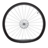 Broken bicycle wheel Royalty Free Stock Images