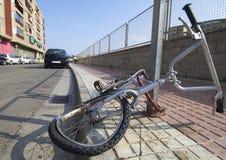 Broken bike royalty free stock photos