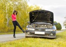 broken bil royaltyfria foton
