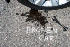 broken bil Arkivfoton