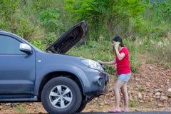 broken bil Royaltyfria Bilder