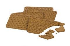 Broken biscuits Stock Images