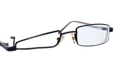 Broken black eyeglasses Royalty Free Stock Photo