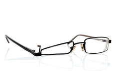 Broken black eyeglasses Royalty Free Stock Photography