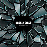Broken Black Glass Background Poster Royalty Free Stock Photos