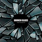 Broken Black Glass Background Poster Royalty Free Stock Photos