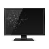 Broken Black Monitor Stock Image