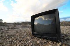 Broken Black Television Royalty Free Stock Photos