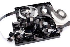 Broken black video cassette Royalty Free Stock Images