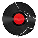 Broken Blank Vinyl Record Stock Image
