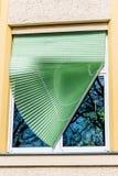 Broken blinds Stock Image