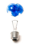 Broken Blue Bulb Royalty Free Stock Image