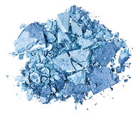 Broken blue eye shadow Stock Photography