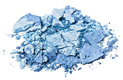 Broken blue eye shadow Stock Image