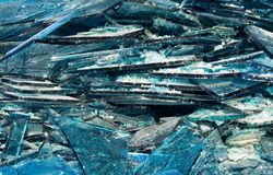 Broken blue glass Royalty Free Stock Photography