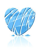 Broken blue icy heart Stock Image
