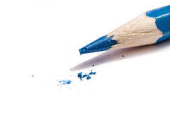 A Broken Blue Pencil Point Royalty Free Stock Images