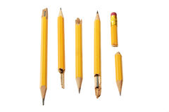 broken blyertspennor Royaltyfri Fotografi