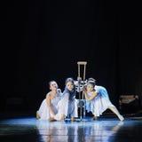 Broken in body but firm in spirit-Modern dance Stock Photos