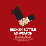 Broken Bottle As Weapon Stock Image