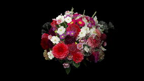 Broken bouquet stock footage