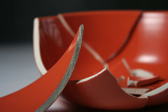 Broken bowl Stock Image